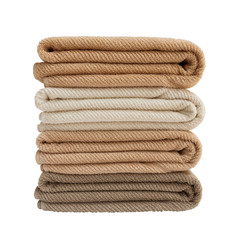 Four bath towels isolated over white