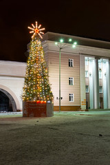 Christmas tree near the central square