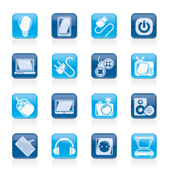 Electronic Devices objects icons - vector icon set