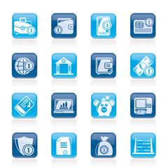 Financial, banking and money icons - vector icon set