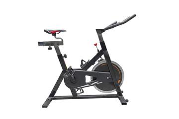 exercise bike isolated on white background