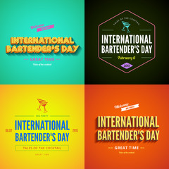 International Bartender's Day Typography lettering design