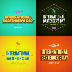 International Bartender's Day Typography lettering design