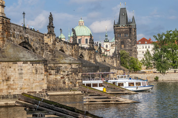 Czech Republic, Prague . View of the Mala Stranan from the Charl