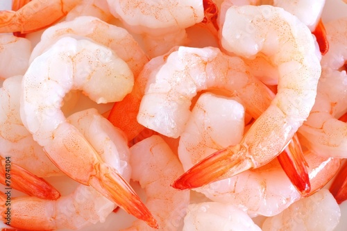 Poster Group of shrimp forming a background