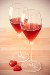 Love and wine: brindisi di san valentino