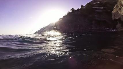Success Joy Winner Swimmer Water Business Joy Slow Motion Hands