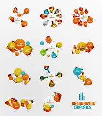 Set of abstract step infographics