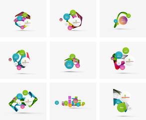 Set of step infographics business layouts