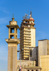Mosque and tower near Al-Ataba Square in Cairo - Egypt