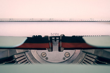 Love letter witha typewriter