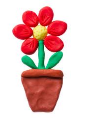 Plasticine flower pot