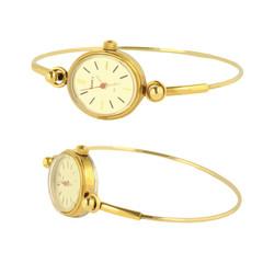 gold wristwatch vector