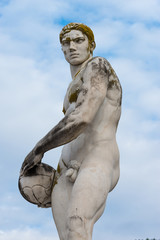 Statue of ball player