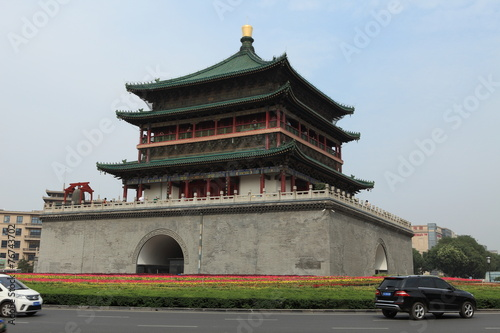 canvas print picture Der Glockenturm von Xian in China