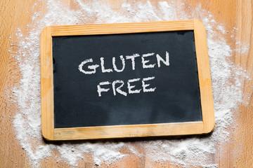 Lavagna con scritta gluten free
