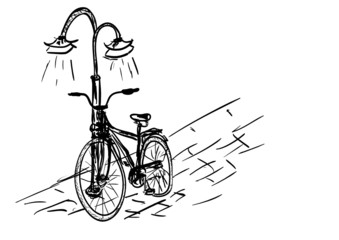 light and bicycle