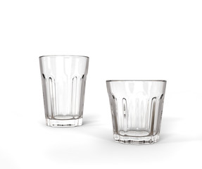 Two Glasses - tall and short