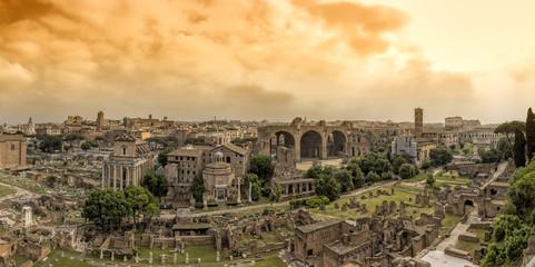 Via Sacra Rom Forum Romanum Panorama Abend