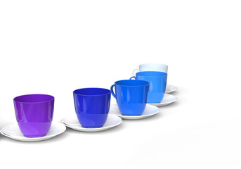 Coffee Cups - Cold Colors