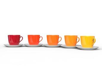Warm Color Coffee Cups