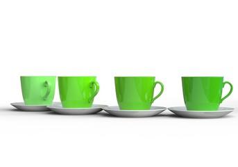 Stylish Green Coffee Cups