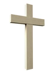 Crucifix On Isolated Background
