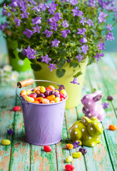 Easter rabbits and candy