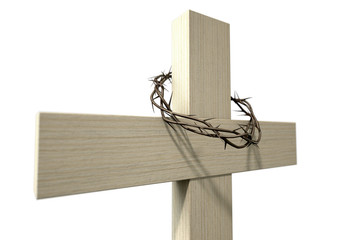 Crucifix With A Crown Of Thorns