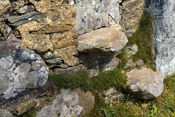 Stile, style, cantilevered steps in dry stone wall