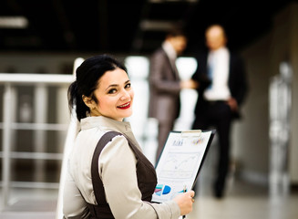 Portrait of a cute young business woman smiling
