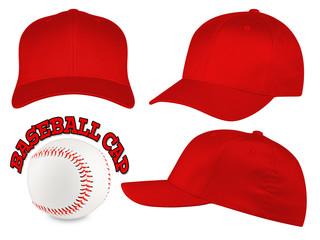 red baseball cap set