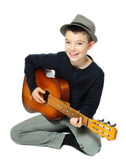Boy with a guitar