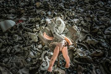 Doll in Middle School No. 3 in Pripyat, Chernobyl Zone, Ukraine
