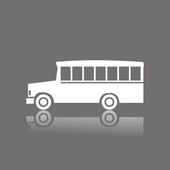 Icono bus school FO reflejo
