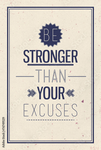 Poster Retro Vintage motivational quote poster