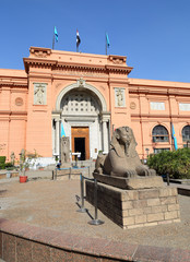 Sphinx statue near Egyptian Museum in Egypt