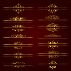 Large collection of ornate headpieces in gold