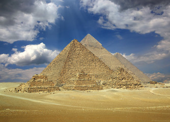 Great pyramids in Egypt