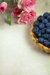 Blueberry, bilberry tart