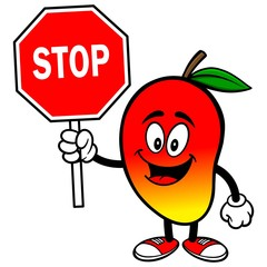Mango with Stop Sign