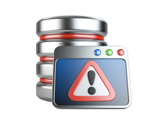 Error database with exclamation mark