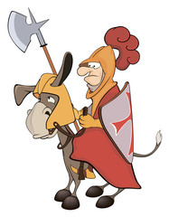 A knight and a knightly donkey