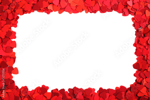 Paper hearts frame - 76751156