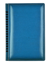 Blue leather book cover
