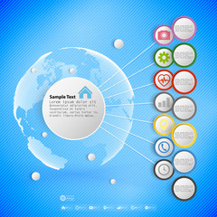 Infographic with colored circles for business, template vector