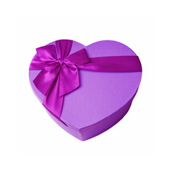 Heart gift box. Valentine's Day concept.