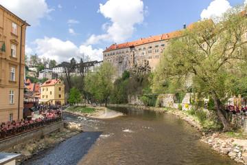View of Cesky Krumlov of the Czech Republic