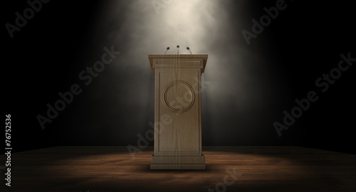 Spotlit Press Podium - 76752536