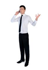 Business man speaking phone